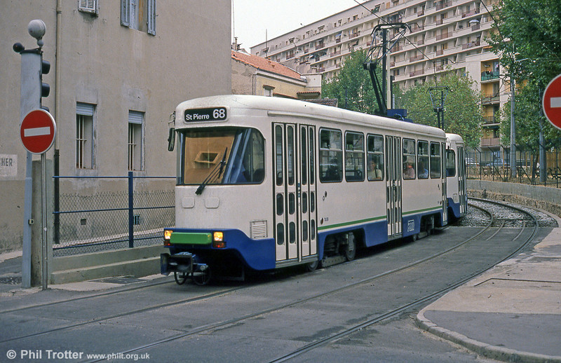 Marseille PCC cars at Sainte-Thérèse on 1st September 1989.