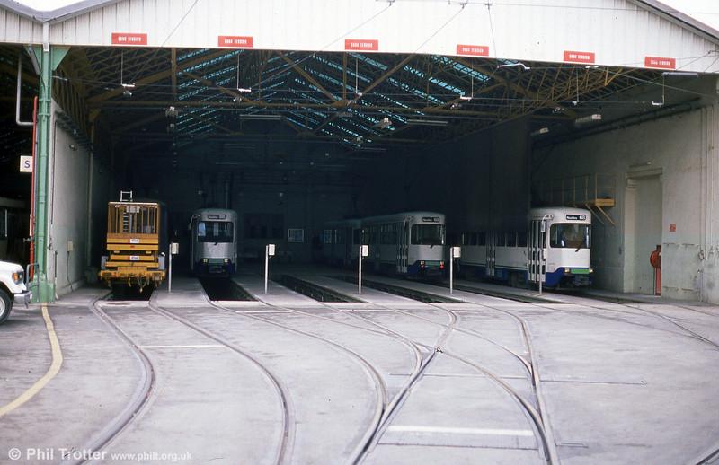A depot scene at St. Pierre on 1st September 1989.