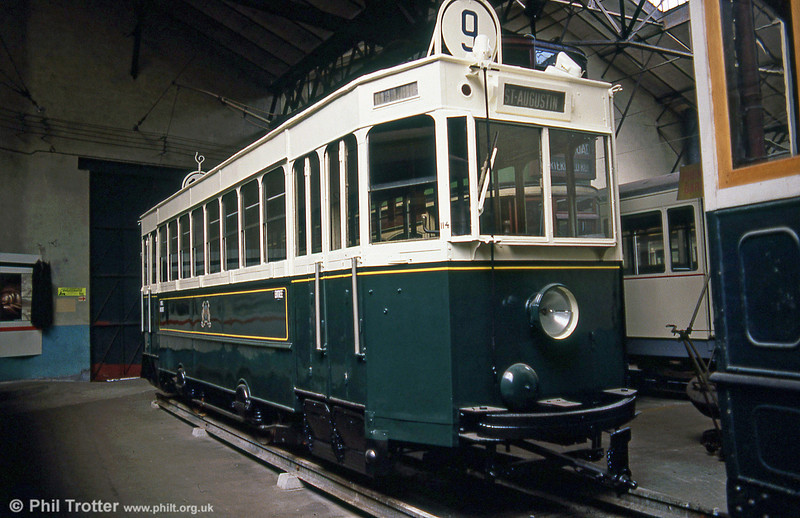 Bordeaux car 114, one of a series of 60 cars, numbered 101-160 built between 1931 and 1935. 114 was withdrawn from service on December 7, 1957 at the close of the original Bordeaux network. Seen at the Paris Transport Museum in July 1984.