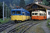 TMB cars at St. Gervais depot on 3rd September 1989.