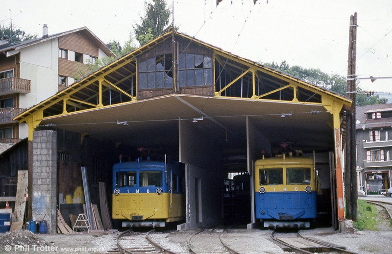 A view of the TMB depot at St. Gervais in 1988.