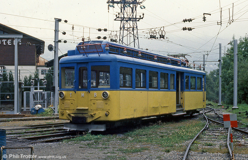Another of the TMB cars at St. Gervais on 3rd September 1989.