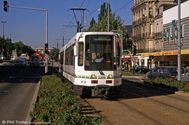 Car 326 at Nantes Station on 29th August 1989.