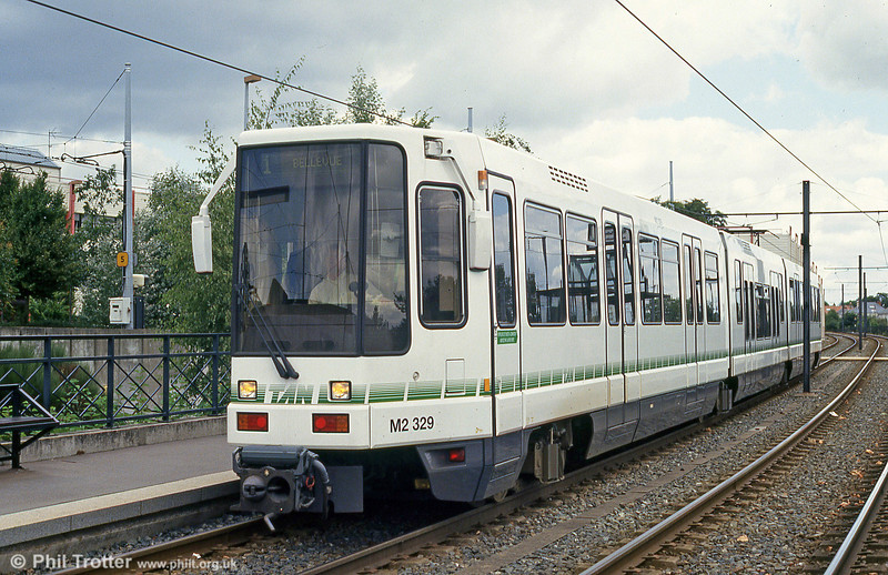 Car 329 at Hopital Bellier on 25th July 1993.