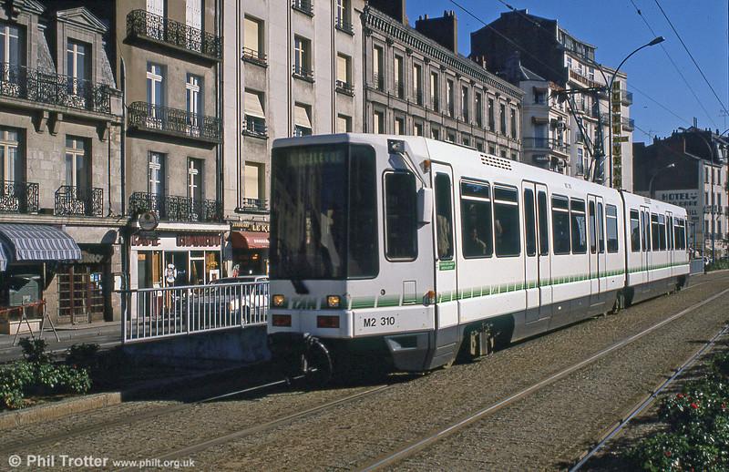 Car 310 near Nantes station on 29th August 1989.