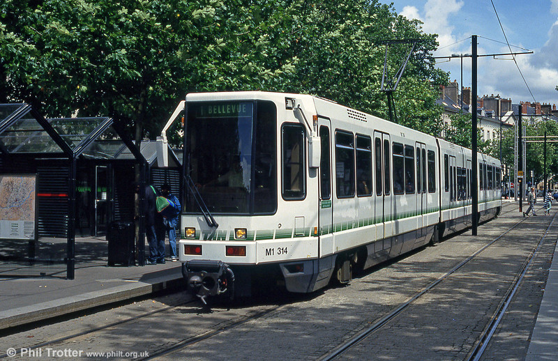 Car 314 at Commerce on 26th July 1993.