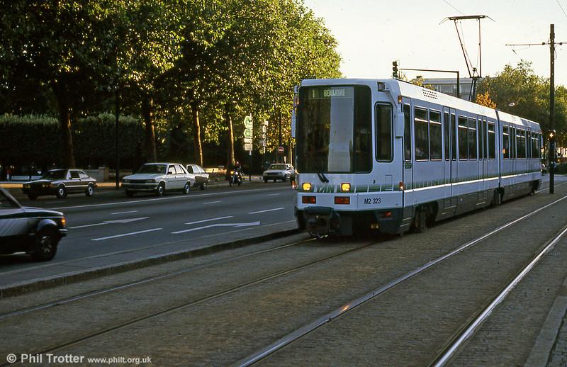Car 323 at Duchesse Anne on 29th August 1989.