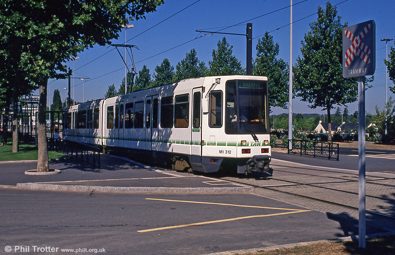 Car 312 at Beaujoire on 29th August 1989.