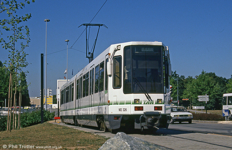 Car 326 at Beaujoire on 29th August 1989.