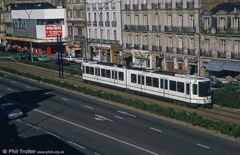 Car 311 near Nantes Station on 29th August 1989.