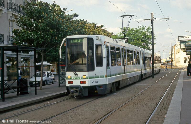 Car 306 at Nantes Station on 25th July 1993.