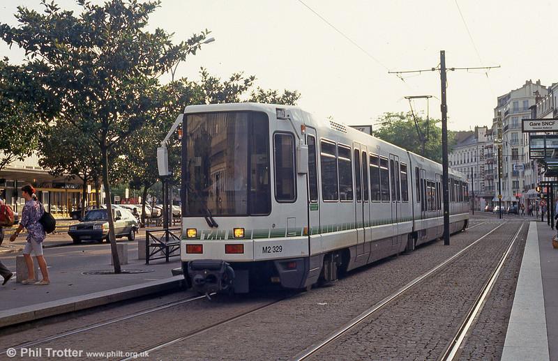 Car 329 at Nantes Station on 25th July 1993.