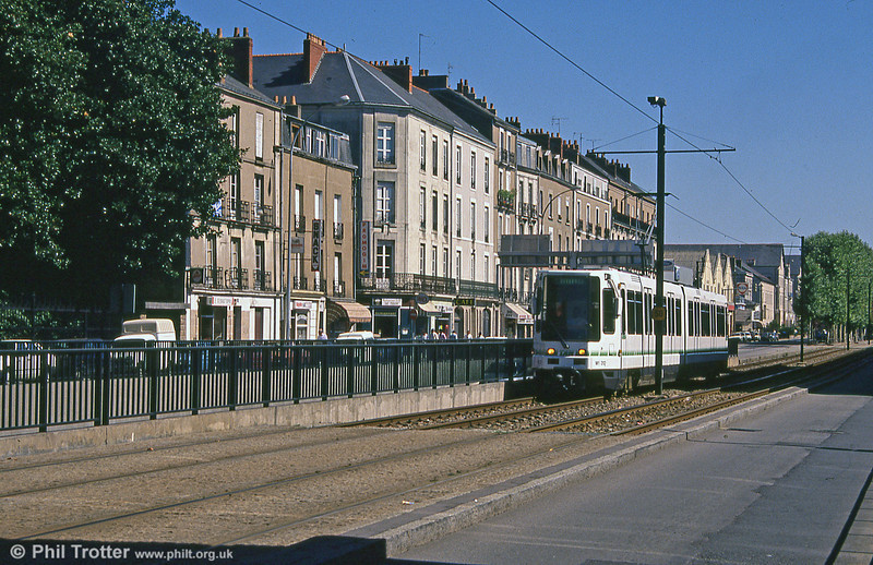 Car 312 at Nantes Station on 29th August 1989.