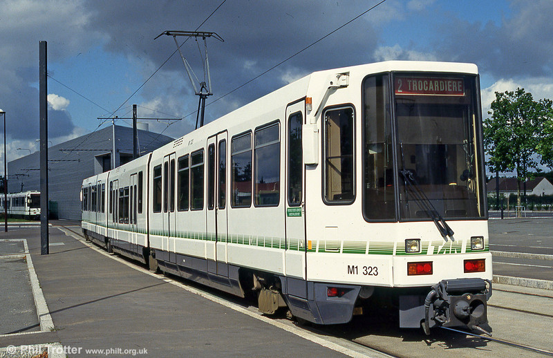 Car 323 at Trocardiere on 25th July 1993.