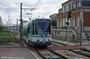 Paris line T2 car 213 at Les Moulineaux on 7th September 1997.