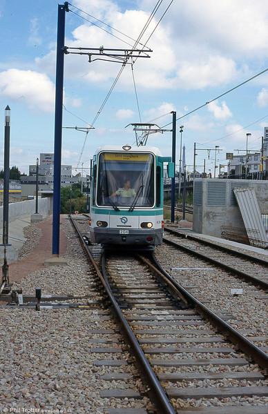 Paris line T2 car 204 at Issy - Val de Seine on 7th September 1997.