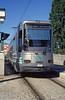Paris line T1 car 101 at St. Denis terminus on 6th August 1993.