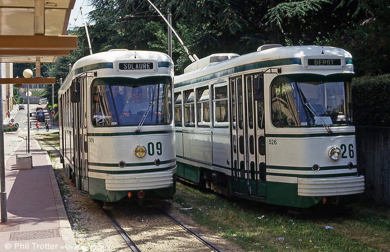 Cars 509 and 526  at Solaure on 29th July 1993.