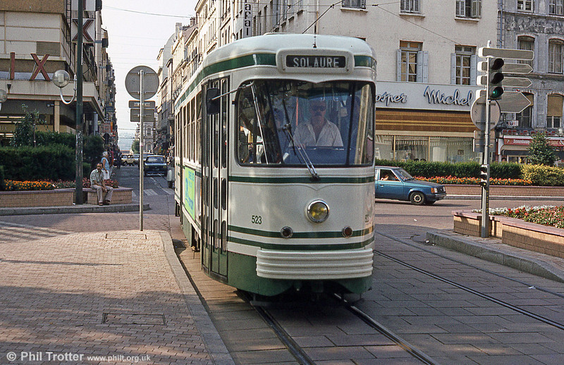 St. Etienne car 523 at Peuple in July1984.