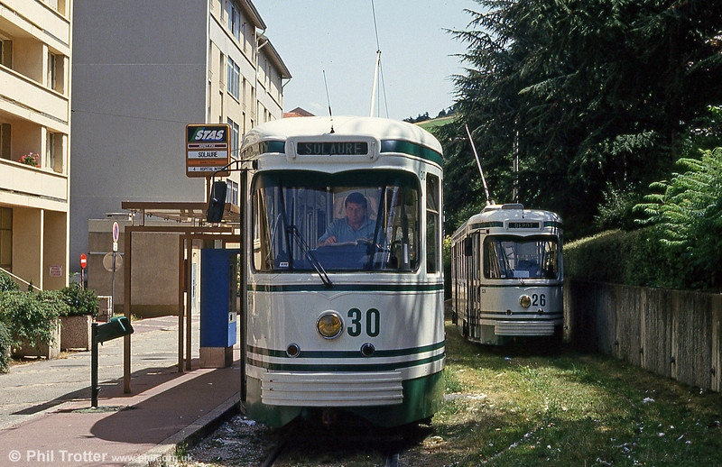 Cars 530 and 526 at Solaure on 29th July 1993.