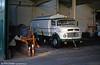 Mercedes scrubber 026 at Bellevue depot on 31st August 1989.