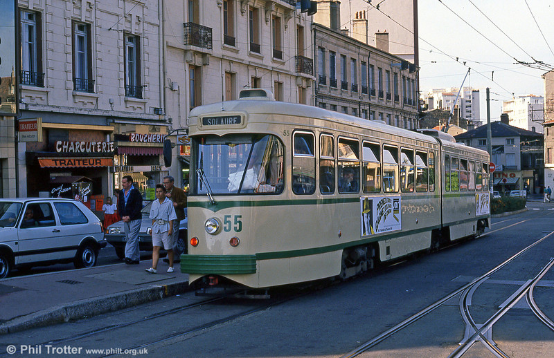 Car 555 at Terrasse on 31st August 1989.