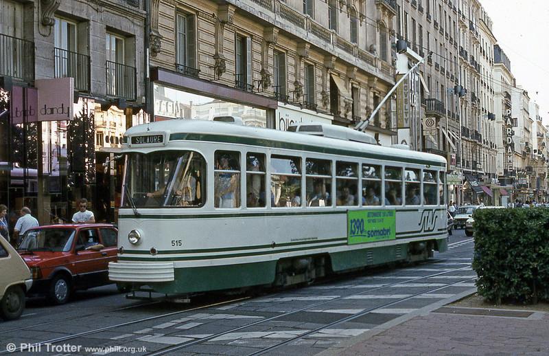 St. Etienne car 515 at Hotel de Ville in July1984.