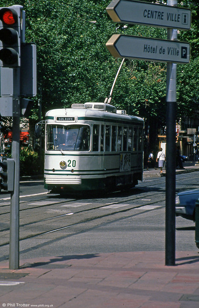 Car 520 near Hotel de Ville on 31st August 1989.