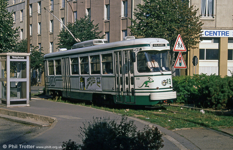 Car 519 at Solaure on 31st August 1989.