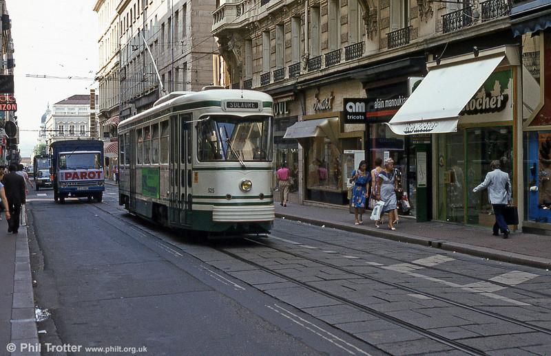 St. Etienne car 525 at Hotel de Ville in July1984.