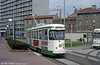 St. Etienne PCC car 522 at Terrasse on 23rd April 1992. The St. Etienne system was operated for many years using these renovated cars which dated from the 1950s.