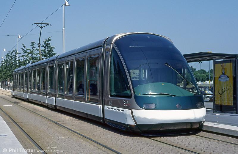 Strasbourg car 1010 at Baggersee terminus in August 1995.
