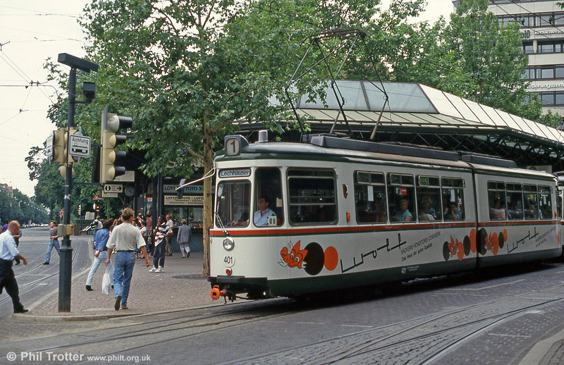 Augsburg Talbot GT4 car 401 at Konigsplatz on 3rd August 1993.