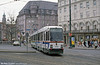 Man/Duwag car 8009 at Konigstplatz on 4th April 1991.