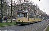 Augsburg 804 a Mannheim type MAN/Duewag car near Konigsplatz on 4th April 1991.