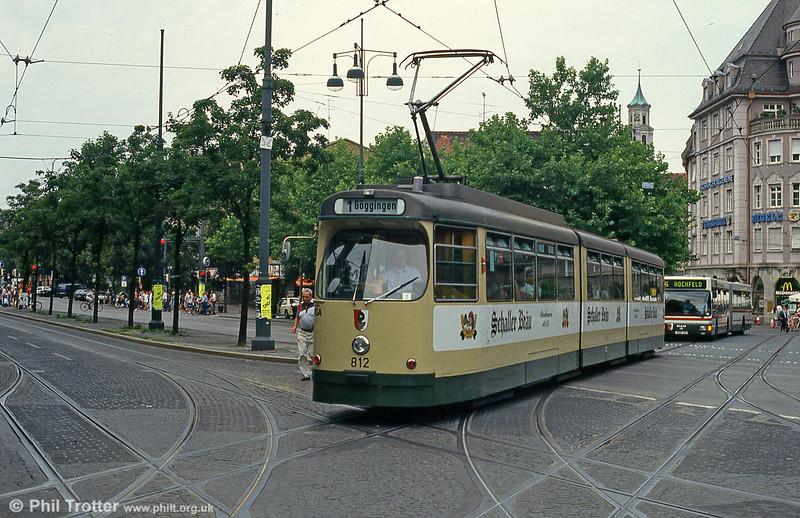 Man/Duwag car 807 at Konigstplatz on 3rd August 1993.