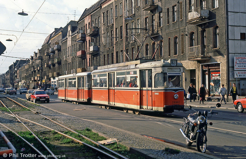 Berlin 046 at Wilhelminehofstrasse on 9th April 1991.