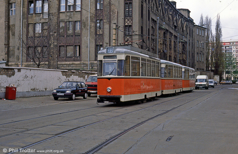 Berlin 104 at Am Kupfergraben on 9th April 1991.