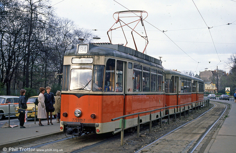 Berlin 009, built in 1969 by Reichsbahnausbesserungswerk at Berlin-Schoneweide at Kopenick on 9th April 1991.