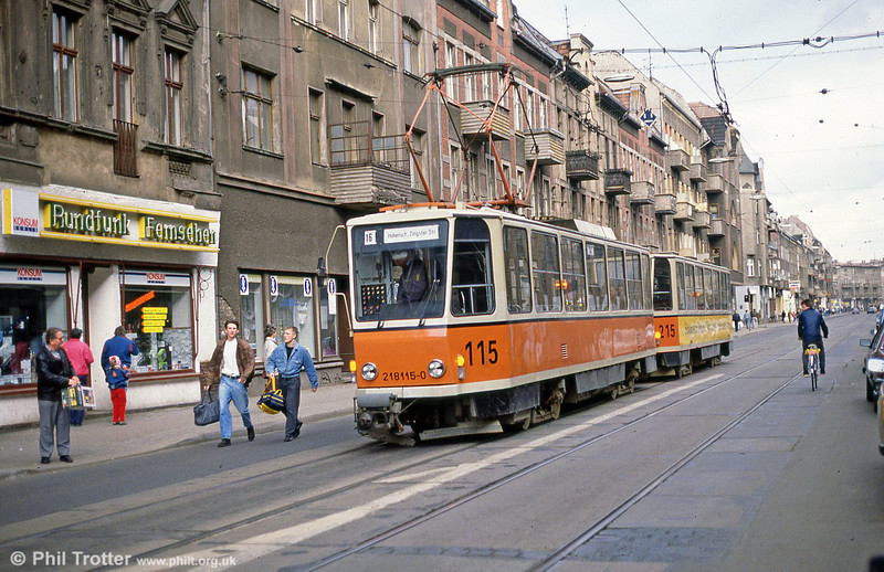 Berlin 115 at Wilhelminehofstrasse on 9th April 1991.