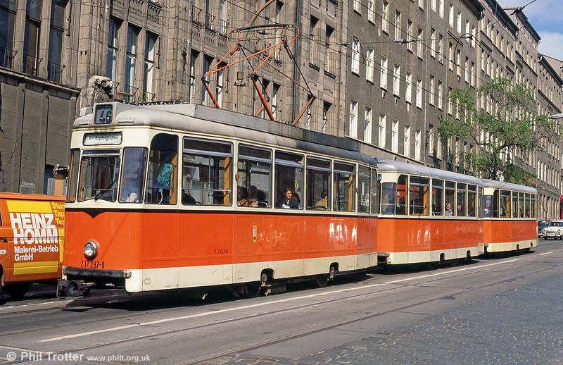 Berlin 297 at Invalidenstrasse on 9th April 1991.