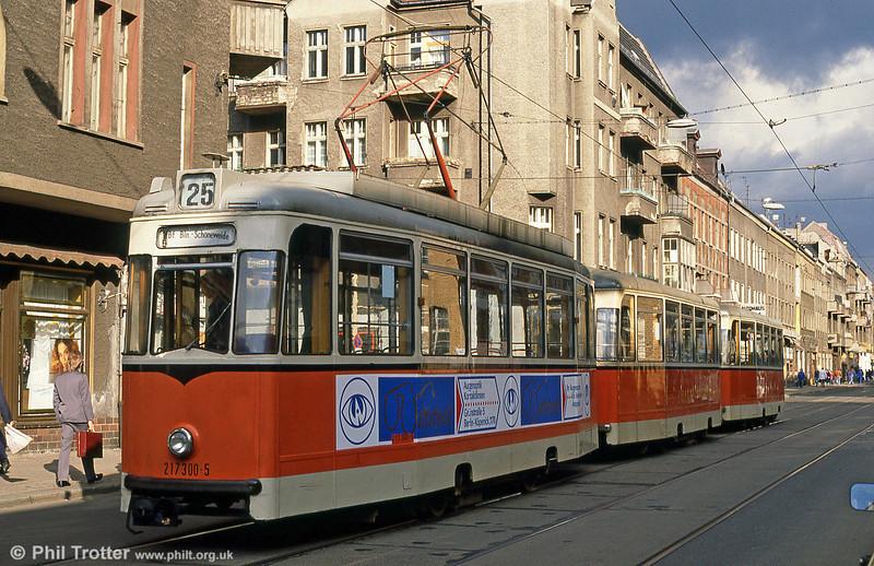 Berlin 300 at Wilhelminehofstrasse on 9th April 1991.