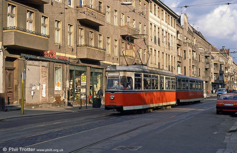 Berlin 013 at Wilhelminehofstrasse on 9th April 1991.