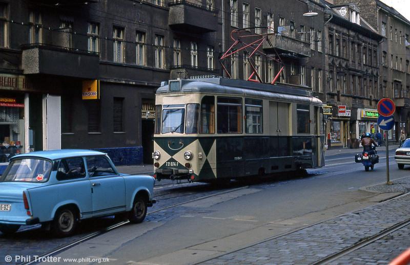 Berlin works car 074 of 1965 at Wilhelminehofstrasse on 9th April 1991.