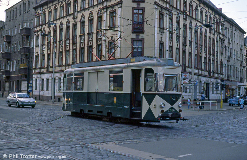 Berlin works car 074 of 1965 at Wilhelminehofstrasse on 9th April 1991.