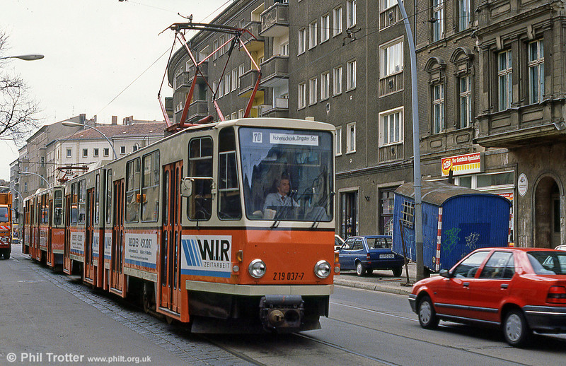 Berlin 041 at Prerower Platz on 9th April 1991.
