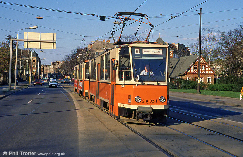 Berlin 102 at Kopenick on 9th April 1991.