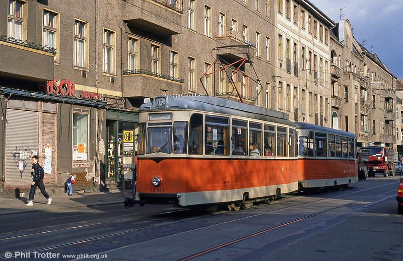 Berlin 110 at Wilhelminehofstrasse on 9th April 1991.