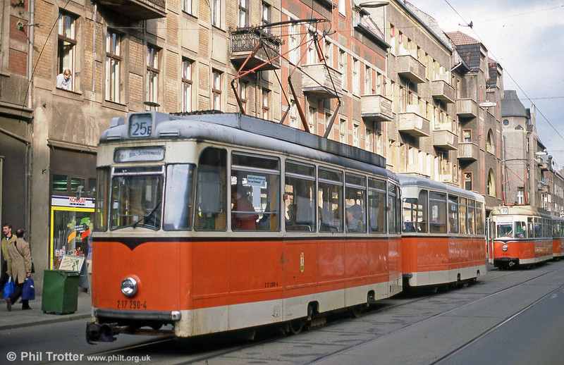 Berlin 290 at Wilhelminehofstrasse on 9th April 1991.