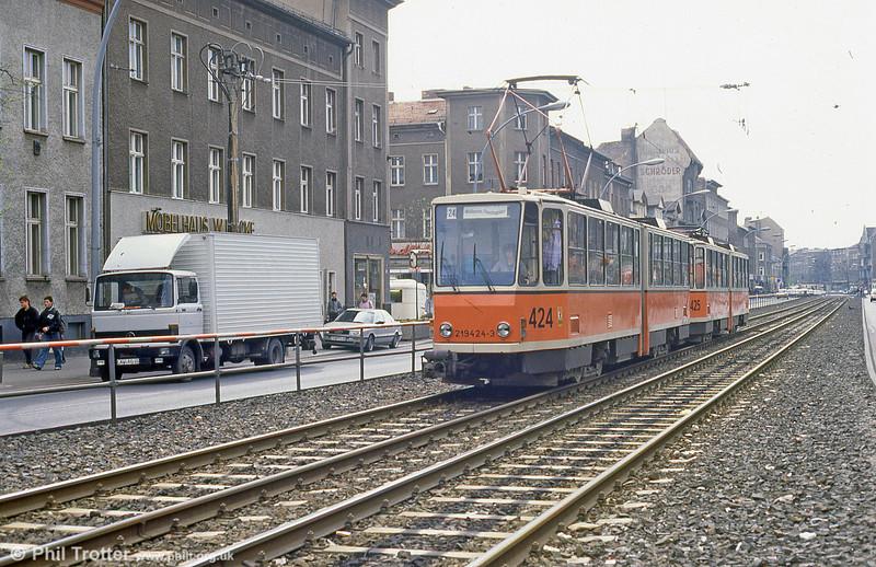 Berlin 469 at Prerower Platz on 9th April 1991.